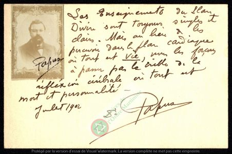 Mot Papus Juillet 1902